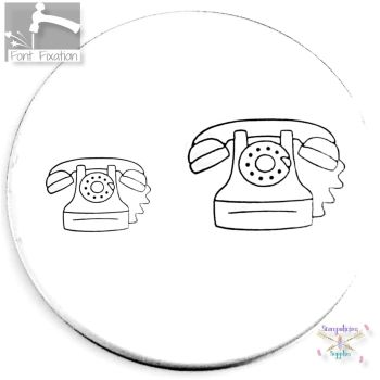 Home Telephone Metal Design Stamp *** #2 *** - What Size?