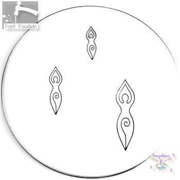 Pagan Spiral Goddess Metal Design Stamp - What Size?