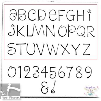 3mm Dream Cake Hand Stamping Font - Which Size/Set?