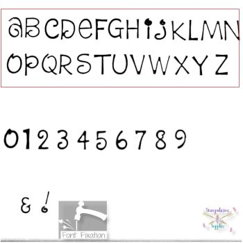 2mm Dream Cake Hand Stamping Font - Which Size/Set?