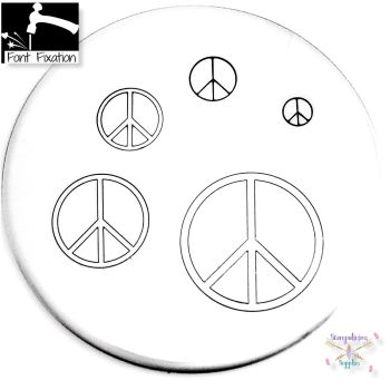 Peace Sign Metal Design Stamp - What Size? ***Peace Symbol ***