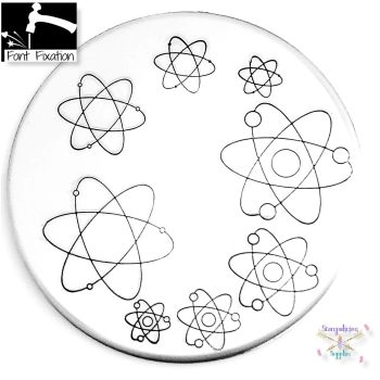 Science Atom Metal Design Stamp - What Style & Size?