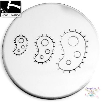 Science Biological Cell Metal Design Stamp - What Size?