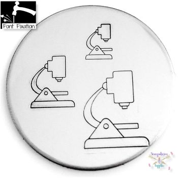 Science Microscope Metal Design Stamp - What Size?