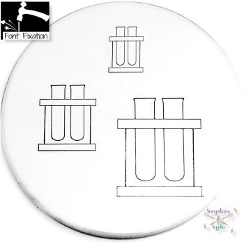 Science Test Tube Metal Design Stamp - What Size?