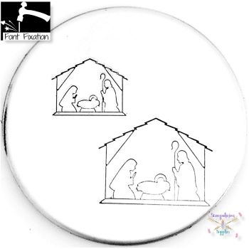 Nativity Scene Metal Design Stamp - What Size & Style?