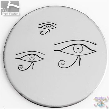 Egyptian Eye of  Ra Metal Design Stamp - What Size & Style?