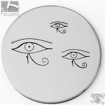 Egyptian Eye of  Horus Metal Design Stamp - What Size & Style?