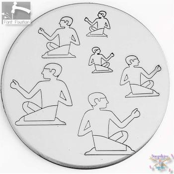 Egyptian Man Metal Design Stamp - What Size?
