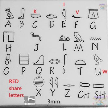 Egyptian Hieroglyphics Hand Stamping Font - Which Size/Set?