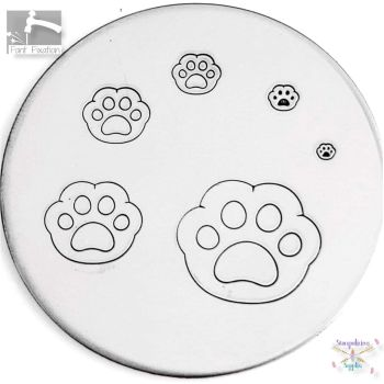 Cute Cat Paw Metal Design Stamp - What Size?