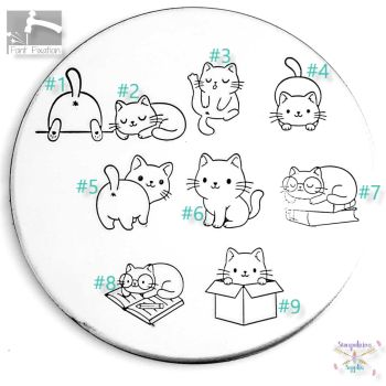 Cute Cats Metal Design Stamp - What Style & Size?