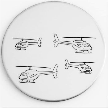 Helicopter Metal Design Stamp - What Size?