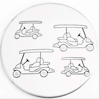 Golf Cart Metal Design Stamp - What Size?  *** #2 ***
