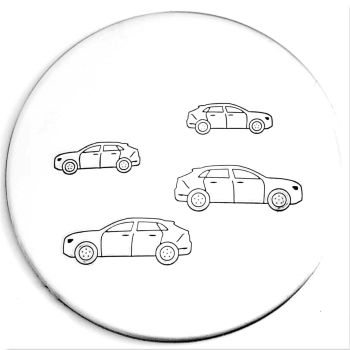 Side View Car Metal Design Stamp - What Size?   *** #2 ***