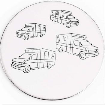 Ambulance Metal Design Stamp - What Size?