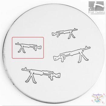 Machine Gun Metal Design Stamp - What Size?