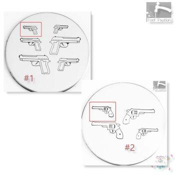 Pistol Hand Gun Metal Design Stamp - What Style & Size?