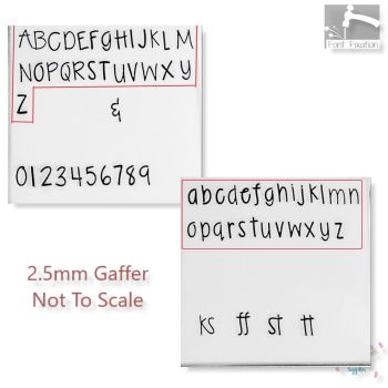 Gaffer Metal Font Set - *** All Sizes Here ***