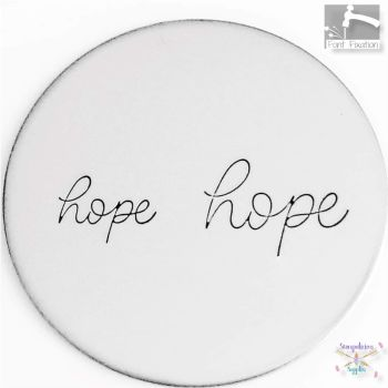 Full Single Word Metal Design Stamp - HOPE - What Size?