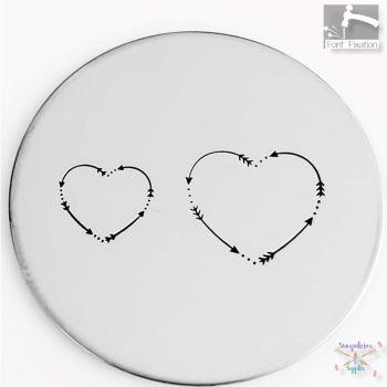 Heart Arrow Border - What Size?