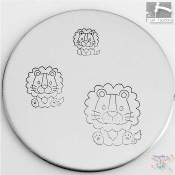 Sitting Baby Lion Metal Design Stamp - What Size?