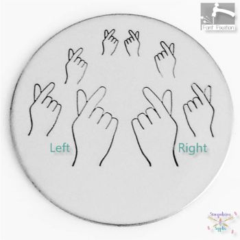Korean I Love You hand Gesture Metal Design Stamp - What Size?
