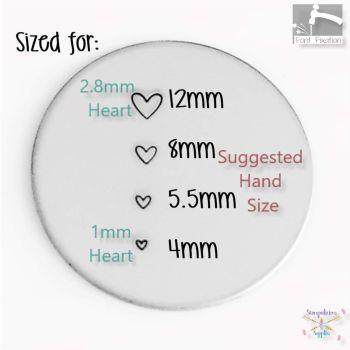 Korean Love Heart Metal Design Stamp - What Size?