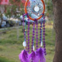Feather Dreamcatcher (turquoise and purple)