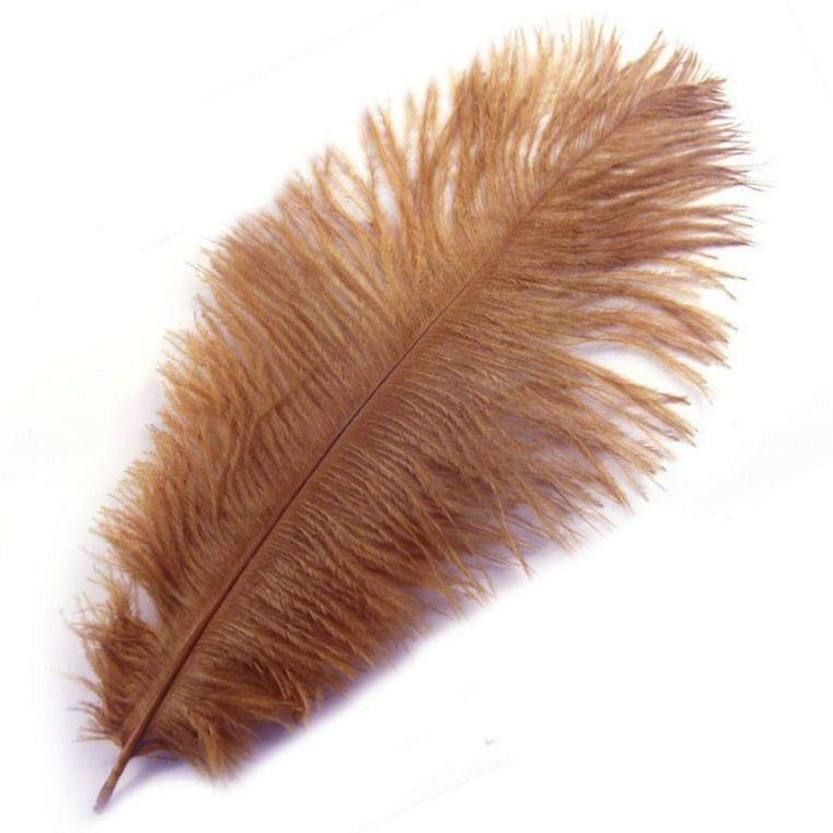 Beige Ostrich Feather