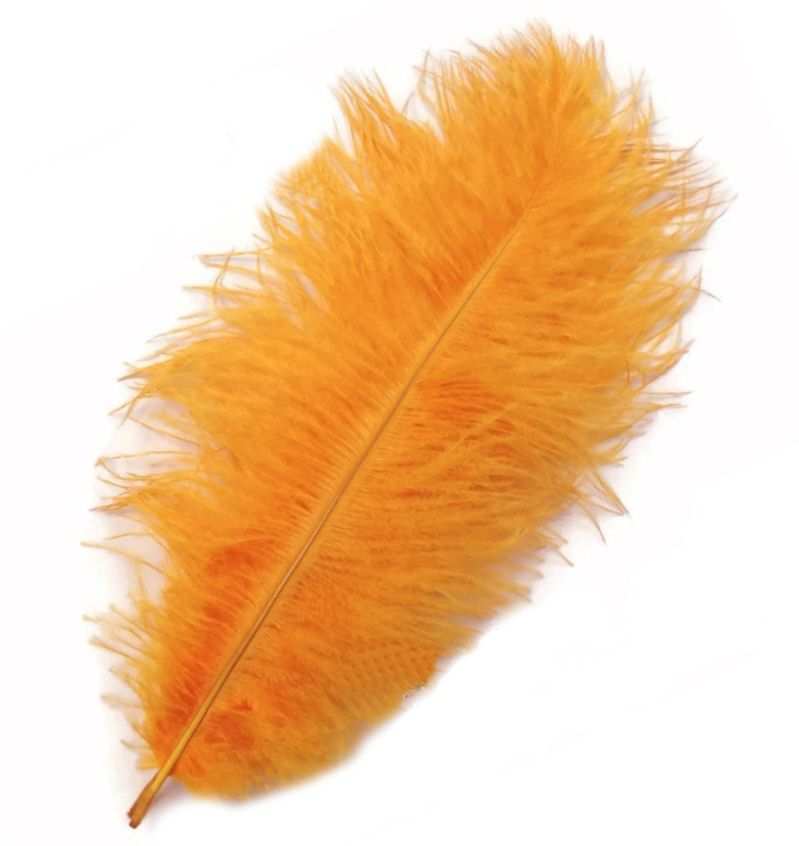 Golden Yellow Ostrich Feather