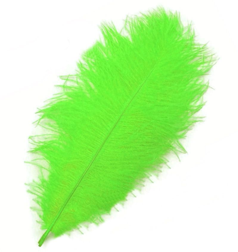 Lime Green Ostrich Feather