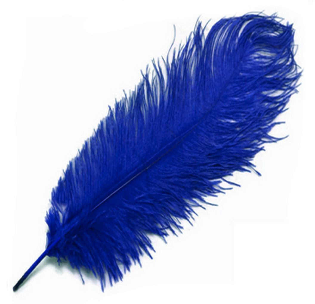 Royal Blue Ostrich Feather