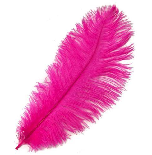 Shocking Pink Ostrich Feather