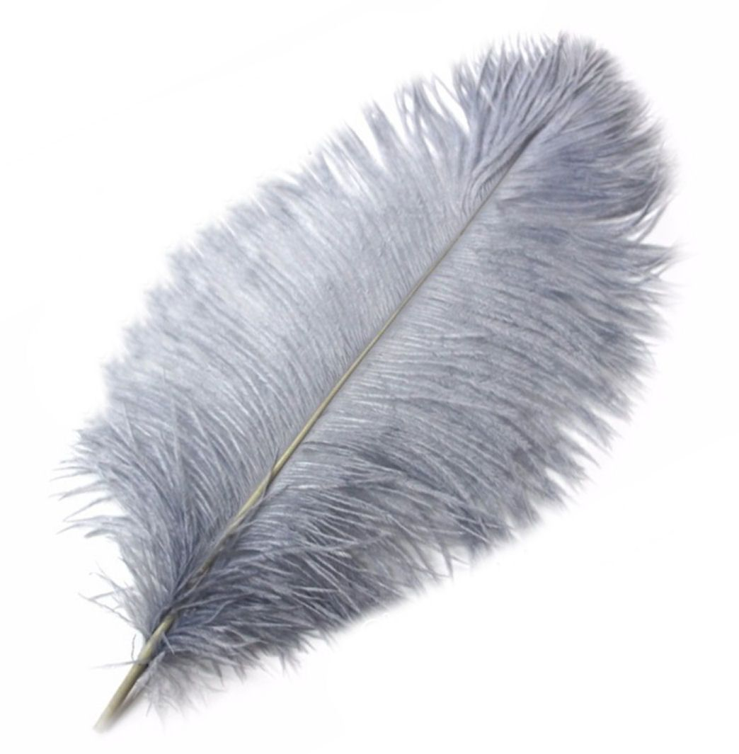 Silver Ostrich Feather