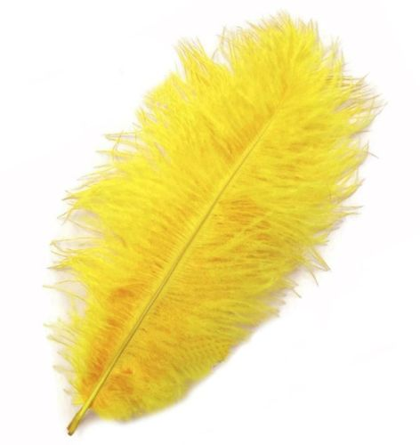Yellow Ostrich Feather