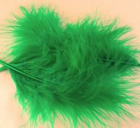 Kelly Green Large Marabou Feathers