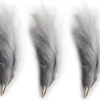 Silver Large Marabou Feathers