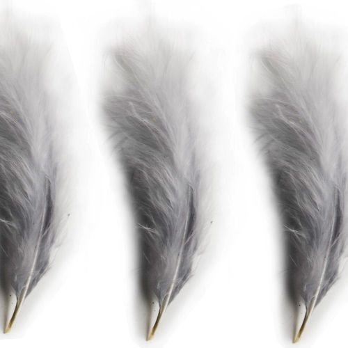 Light Silver Large Marabou Feathers