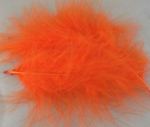 Orange Marabou Feathers