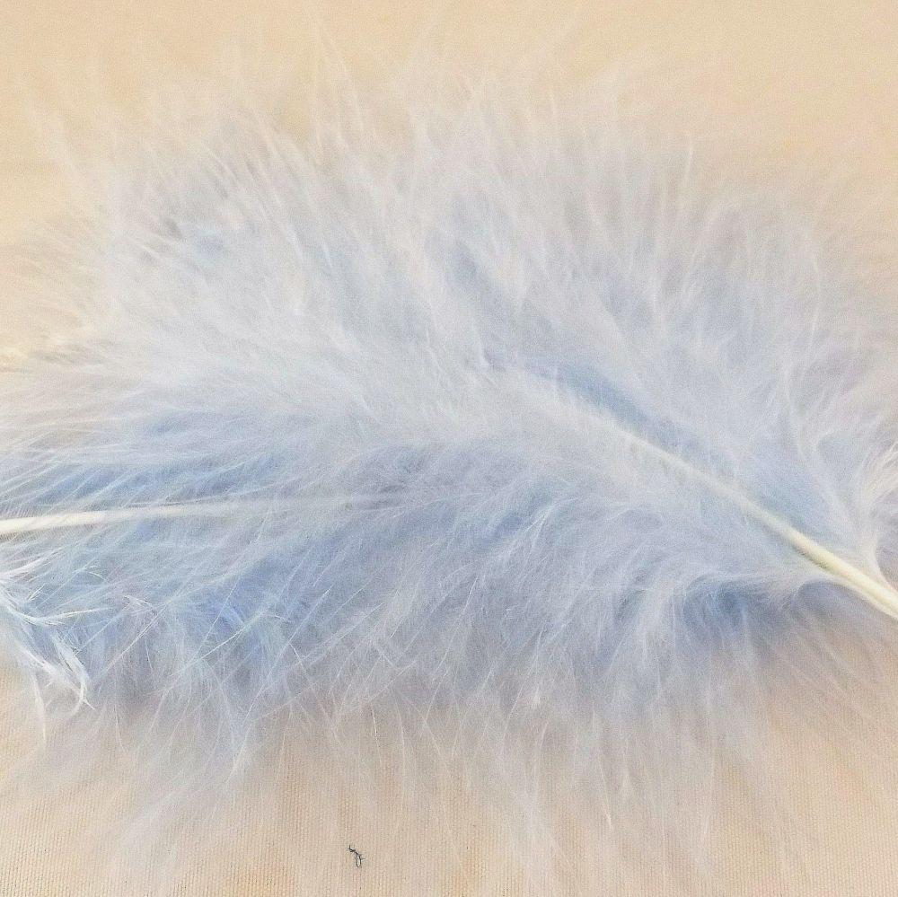 Pale Blue Large Marabou Feathers