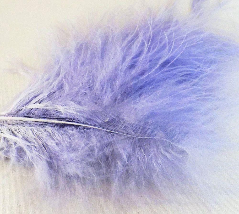 Pale Mauve Marabou Feathers