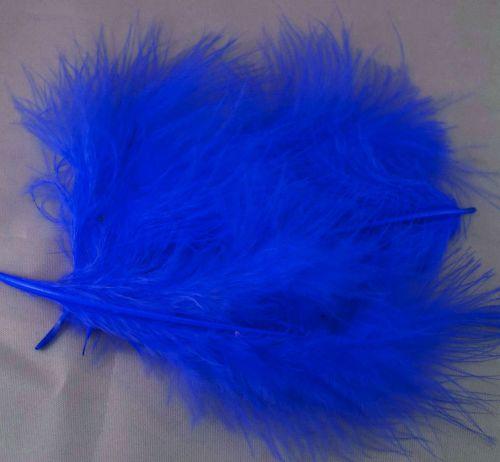 Royal Blue Marabou Feathers