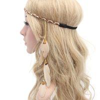 Cream Feather Head Piece