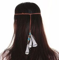 Feather Head Piece (Brown)