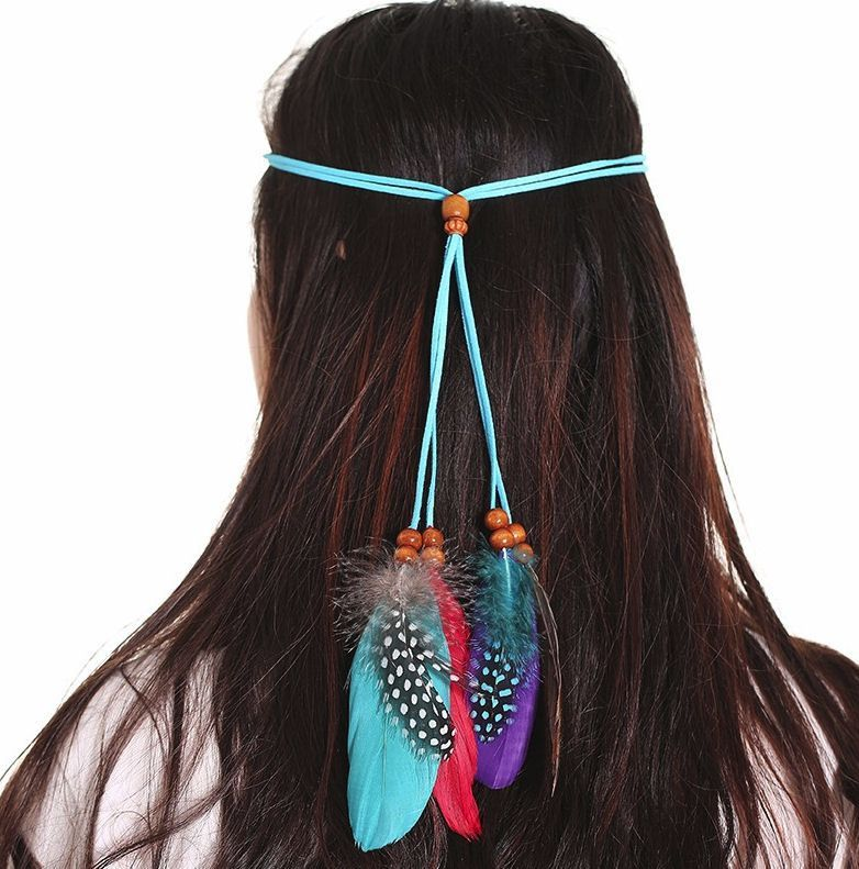 Feather Head Piece (Turquoise)