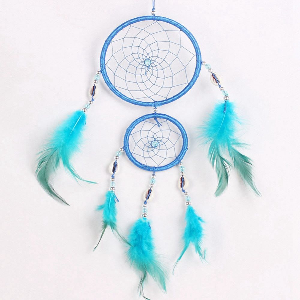 Double Feather Dreamcatcher (blue)