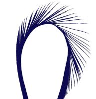 Sapphire Blue Goose Biot Feather