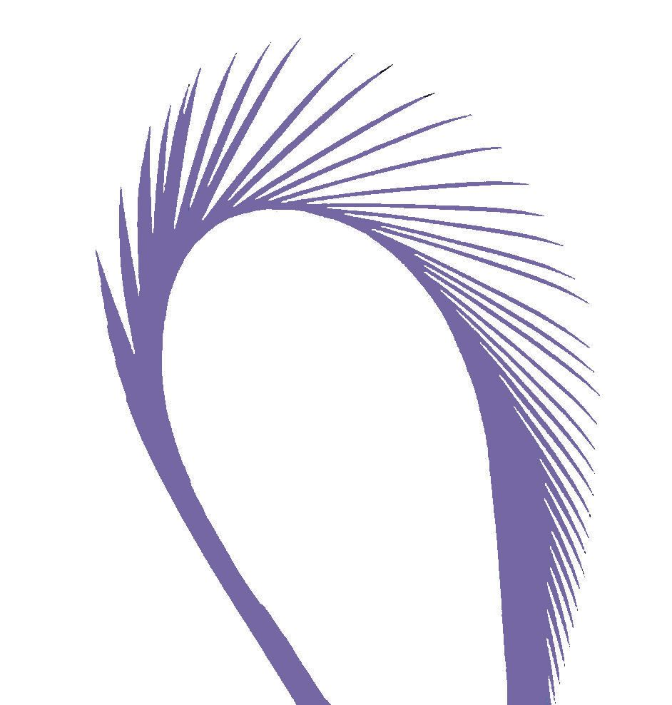 Lilac Goose Biot Feather