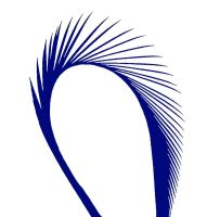 Royal Blue Goose Biot Feather